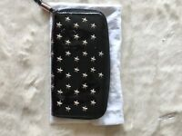 Jimmy Choo Large Black Patent Purse with studs detail