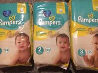 Pampers Nappies Size 2, 3 and 1 if required