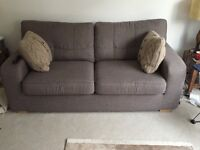 Great condition neutral 2/3 seat sofa