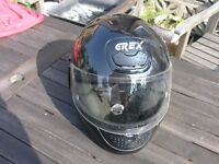 GREX Black italian Full Face Small Motorcycle Helmet Weymouth