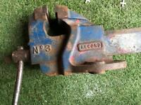 Very big bench vice Record No3 joiner or mechanic