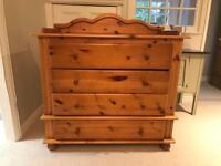 Pine chest of draws & wardrobe