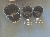 "Vintage Remo 12""/13""/16"" Toms (for Parts/Spares/Repairs) Drum kit Parts / Project"