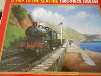 2 x 1000 piece jigsaws. Day at seaside. Padstow Harbour.