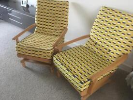2 x sprung rocking chairs