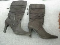LADIES HI HEEL BOOTS
