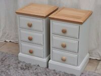 Painted Oak Bedside Cabinets (Pair)