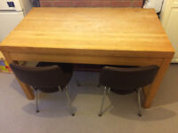 One piece-solid wood dining table- from a smoke&pet free house