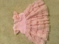 3-6 months pink party dress