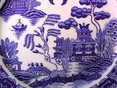 BLUE WILLOW 3 6.75 PLATES JAPAN BLUE MARK-R - $14.99