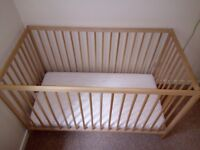 Cot with mattress plus WALL LAMP