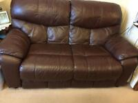 Reclining sofa seat set 2+2+1 - Leather - Electric Motor Reclining