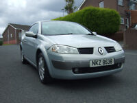 2005 Renault Megane hard top convertable 1.6 petrole with full years mot drives 100% !!!!!!!!