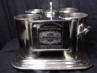 Fine Xmas Gift Handmade Large French Silver Plate Champagne Wine Cooler Bucket Holds 4 Bottles