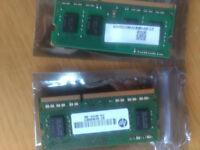 2x 4GB Micron 8GB laptop DDR3L RAM