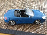 Blue Porsche Boxster 1.24 scale
