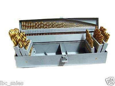 115 PC HSS Indicator TITANIUM DRILL BIT METAL STEEL FRACTIONAL & NUMBER LETTER SET