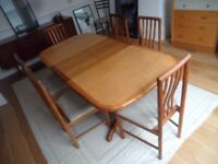 Mid Century Modern dining table teak 6 SIx Chairs A M Mobler Denmark Teak
