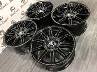 "GENUINE BMW MV4 19"" ALLOY WHEELS - 5 x 120 - GLOSS BLACK FINISH"