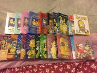 Large collection of Simpson DVD's including collectors edition