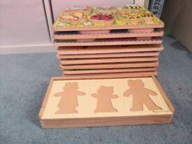 Kids woode jigsaws