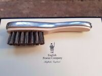 THE ENGLISH PEWTER COMPANY Moustache / Beard Brush Metal Silver Mens Xmas Gift