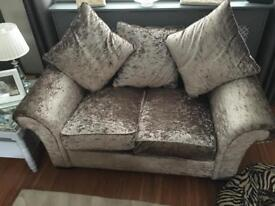 2x mink 2 seater settees
