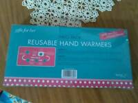 Two pack reusable Hand warmers to her