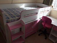 Kids Pink Bunk Bed