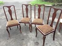 Set Of 4 Shapely Dining Chairs