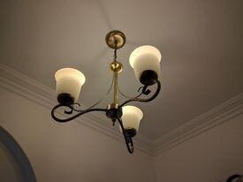 Antique brass elegant design 3 arm chandelier