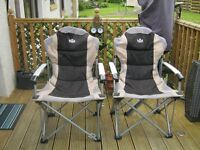 two royal commander camping chairs in good condition with carry bags