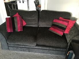 Three seater large L-shaped sofa & 2 seater. Excellent condition.