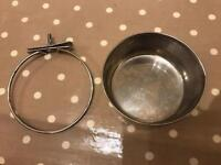 Bowl and holder for dog crate