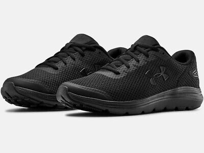 Under Armour UA Surge 2 Blackout Men's Running Training Athletic Shoes Black