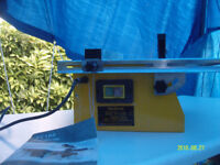 Tile Saw - Electric 240V Bench style. Diamond Blade. Hardly used.