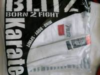 KARATE SUIT BY BLITZ SIZE 160CM NEW IN PACKET