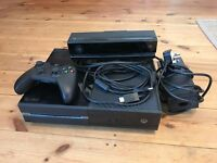 Xbox One 500GB Black. Inc Kinect, all leads and 1 x controller.