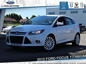 2012 Ford Focus TITANIUM**CUIR*TOIT*GPS*BLUETOOTH*A/C**