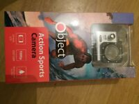 object sports camera 1080p new in box ,waterproof,motion sencer various connection brackets