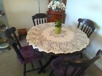 Round dining table plus 4 chairs