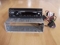 SONY CAR CD PLAYER/RADIO WITH AUXILIARY INPUT MOUNTING BRACKET AND ISO LEAD