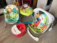 Baby swing, baby bouncer, baby walker & bumbo seat