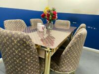 🍒🔥🔥INTRODUCTION OFFER 🔥🔥ON FIERY EXTENDABLE DINING TABLE WITH 6 CHAIRS