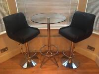 Bar stool and chairs