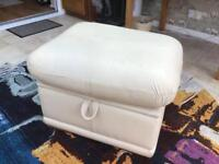 G-plan Leather Foot Stool