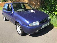 Ford Fiesta Zetec 1242cc Petrol 5 speed manual 5 door hatchback T reg 30/04/1999 Blue