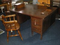 Vintage/antique Partners Large Double Sided Desk With Filing Drawers, Boardroom table/desk.