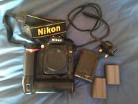 Nikon d90 digital camera and grip