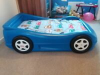 Little Tikes Blue Car Bed With Mattress